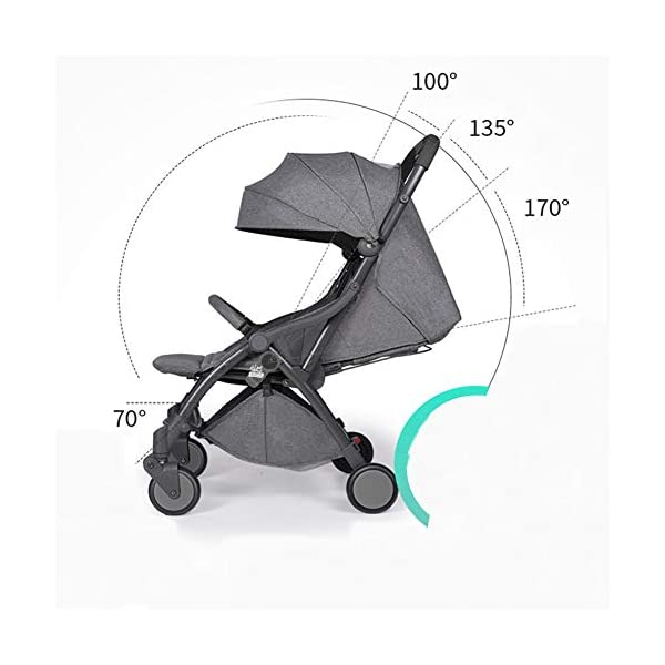Pushchair 2 In 1 Baby Stroller Travel System,Baby Trolley Newborn Baby Carriage Foldable Can Sit And Lie Down Damping Baby Cart For 1 Month -5 Years Old Ydq TRAVEL ANYWHERE - Airplane travel stroller designed for airplane overhead compartment. It's super compact when folded. With extendable pull rod, it could be dragged anywhere you go with no effort instead of lifting it with your hand. COMFORTABLE SEAT - Lightweight pushchair with reclining backrest enables your baby to rest better in the well-padded seat. The pads on the headrest will help keep your baby's head in position even if it's asleep. The angle of legs support could also be adjusted, providing the most joyful ride for your baby. EASY USAGE - One-hand foldable buggy makes taking your baby for travels or walks a simple pleasure. It could stand on its own so you could take care of your baby with less things to worry about. 3