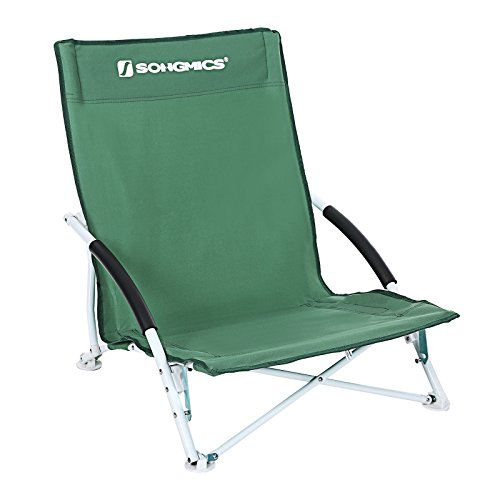 SONGMICS Low Folding Beach Chair for Garden Camping GCB61G