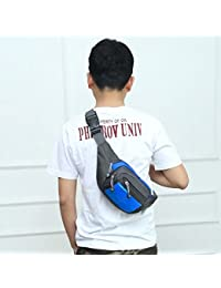 Fashion Multi-function Men Outdoor Sports Running Adjustable Breathable Waist Bag (Blue)