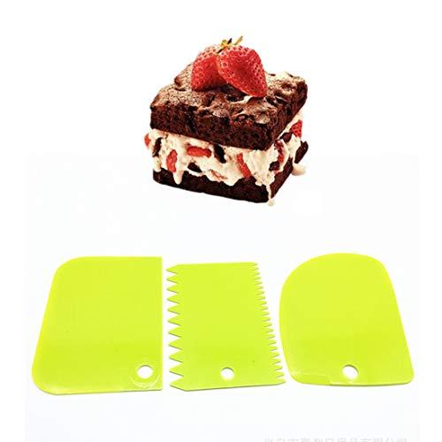 raschietto per crema strumenti da forno strumenti da pasticceria spatole per glassa fondente spatole per torte Raschietto per torte pettine confezione da 4