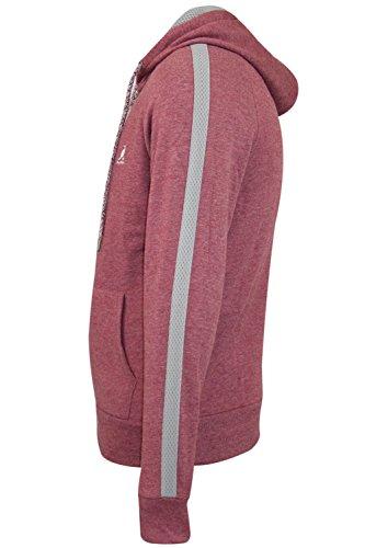 Nuovo alevros Kangol marca Fleece Zip Up con cappuccio Tuta Top Jogger inferiore Designer Rochford Hoodie - Mahogany