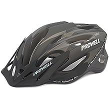 Prowell F59R Vipor F59R - Casco de ciclismo negro/negro mate Talla: M (55-61 cm)