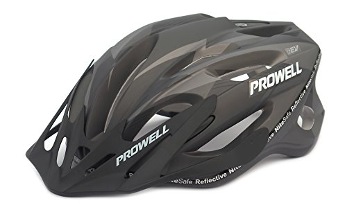 41bSFaHN4ZL - BEST BUY #1 Prowell F59 Cycle Helmet (Matt Black, Medium, Including a FREE SharkFIN Light worth £5.49) Reviews and price compare uk