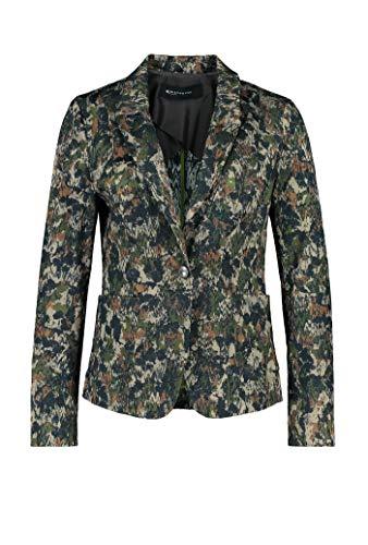 Expresso Maureen Damen Blazer Jacquard Camouflage Tailliert mit langem Arm, Grün, 38