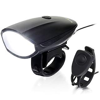 Hornit LITE - Rechargeable Bicycle Light and Horn - 250 Lumen Light, 120 Decibel Horn