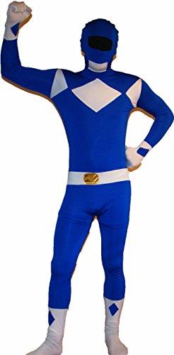 Catsuit Powerranger Kostüm Farbe: Blau Größe: L