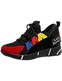 Zapatillas Deportivas de Muje Zapatos Sneakers Running Casual Aumentar Dentro Fondo Grueso Deportivo de Exterior de