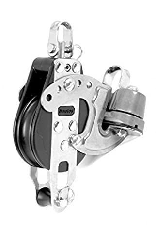 Nautos #92213-Classic line 57 MM -SINGLE SWIVEL WITH ALLOY CAM AND BECKET - 57 mm sheave-long lasting characteristics.Sailboat block by Nautos