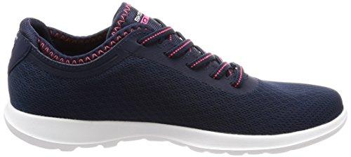 Skechers Go Walk Lite-Impulse, Sneaker Donna Blu (Navy/pink)