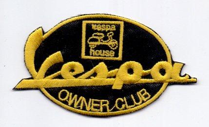 """Applikation Aufbügler Patches Stick Emblem Aufnäher Abzeichen """"VESPA CLUB EIGENTÜMER"""" Logos F1, Moto GP & Sponsoren, Logos F1, Moto GP & Sponsors"""