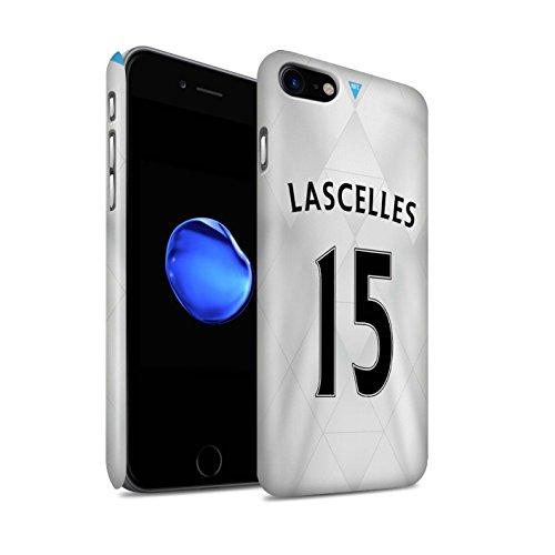 Officiel Newcastle United FC Coque / Clipser Matte Etui pour Apple iPhone 7 / Taylor Design / NUFC Maillot Extérieur 15/16 Collection Lascelles