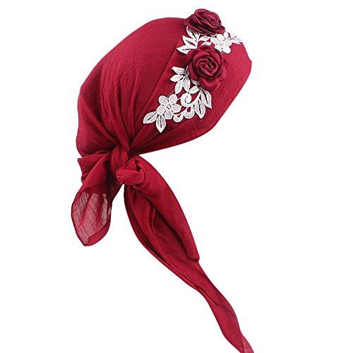 TEBAISE Kopfbedeckung Chemo Damen Bandana Kopftuch für Krebs Chemotherapie Haarausfall Schlaf Make up und Karneval