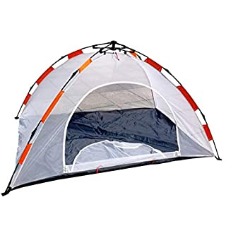 SXY888 Tent Outdoor tents Camping tents All-net net tents Single-layer accounts Free-built speed-opening Anti-mosquito indoor tents (Color : WHITE)