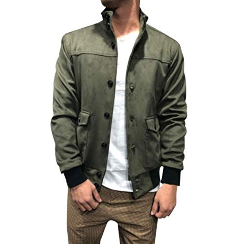 Zolimx Paneled Sweater Hooded Long Sleeve Jacke für Herren, Herrenmode Spleißen Knopf Pullover Langarm Sweatshirt Tops Bluse Mantel