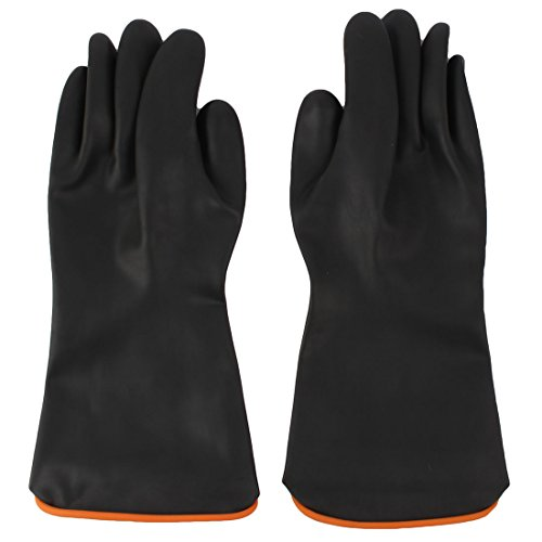 Paar 36,8cm Länge Anti Säure Industrie chemikalienbeständig Gummi Handschuhe