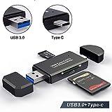 Lecteur De Cartes SD/Micro SD Adaptateur USB Type C Micro USB OTG et Lecteur de Carte mémoire USB 3.0 pour SDXC RS-MMC...