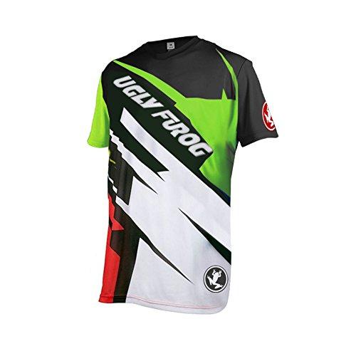 Uglyfrog Bike Wear Herren Downhill/MTB Jersey Mountain Bike Shirt Fahrradtrikot Kurzarm Freeride BMX Top