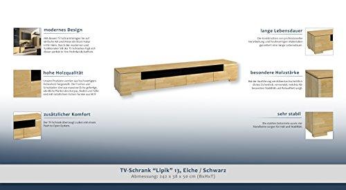 """TV-Schrank """"Lipik"""" 13, Eiche / Schwarz – Abmessungen: 242 x 38 x 50 cm (B x H x T) - 2"""