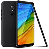 Redmi 5 Back Cover, [Pudding Black-5.7-inch] Premium Real Smart Perfect Fitting Back Case Cover For Xiaomi Redmi 5