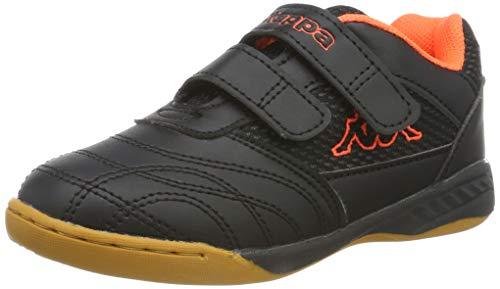 Kappa Unisex-Kinder Kickoff OC Kids Sneaker, Schwarz (Black/Orange 1144), 34 EU (Für Schuhe Mädchen Orange,)