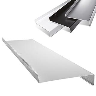 Aluminium Fensterbank in Weiß Zuschnitt nach Maß Länge 2000 mm Ausladung 50 mm - weitere Längen und Farben wählbar