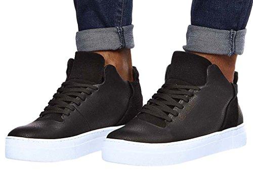 LEIF NELSON Herren Schuhe Freizeitschuhe Elegant Winter Sommer Freizeit Schuhe Männer Sneakers Sportschuhe Laufschuhe - EU 42 - Schwarz