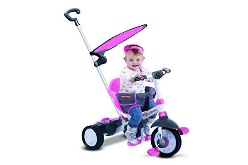 Fisher Price FP3250233 - Triciclo Charm Plus 3 in 1 con Maniglione, Rosa
