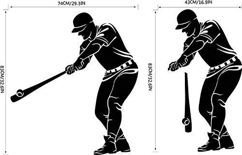 Baseball-Sport-Charakter-Wand-Aufkleber-Jungen-Schlafzimmer-Persönlichkeits-kreativer Aufkleber -