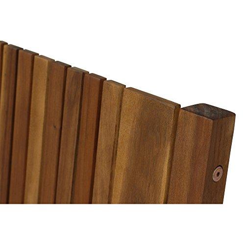 Siena Garden 2er Bank Falun, 59x122x90cm, Akazienholz, geölt in natur, FSC 100% - 11