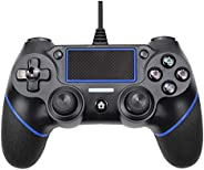 Innoo Tech PS4 Controller, Wired Remote Controller for Playstation 4 Dual Vibration Shock Joystick Gamepad for