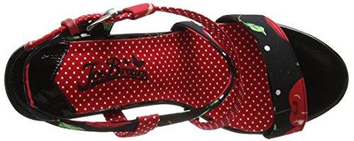 Joe Browns Tutti Frutti Polka Dot Sandals, Sandales  Bout ouvert femme Multicolour (a-black/red)