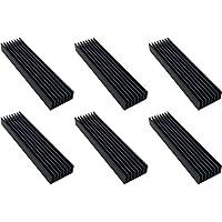 Easycargo 6 pezzi Aluminum Heat dissipator 100x25x10mm (100mmx25mmx10mm) (nero)