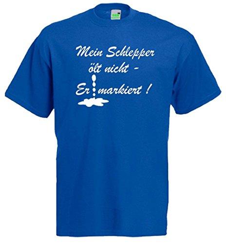 Traktor T-Shirt | Mein Schlepper ölt nicht - er markiert! Royalblau