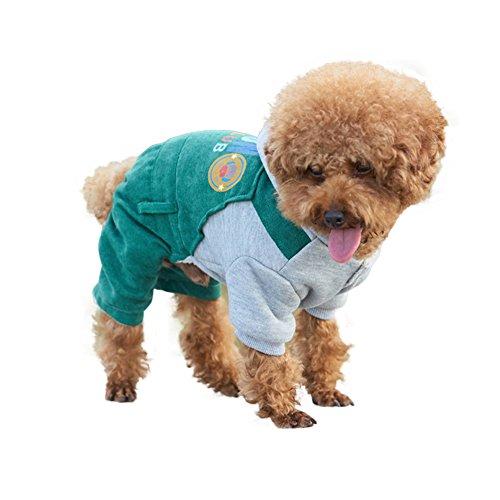 (shufang-kitchen, shufang-kitchen kostüme - kapuzenpulli mäntel für kleiner welpe mittelgroßen hunde (color:grüne,size:M))