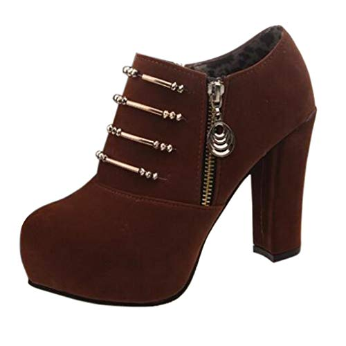 SOLELING Sandali Tacchi Alti Brand Women Ankle Boots Warm Party Prom Night Club Pumps Shoes Woman High Heels Ladies Boots Ladies Zipper Pumps
