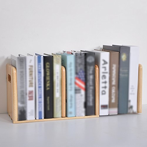 JIN PING Beautiful Homes® Soportes de libros, estante tirón de madera maciza retráctil estantería pequeña estantería de libros estantería de libros