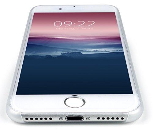 MyGadget Flip Case Hülle für Apple iPhone 7 mit Kartenfach und Standfunktion Klapphülle aus Kunstleder (PU) Schutzhülle Wallet Book Cover - Schwarz Hartplastik Transparent