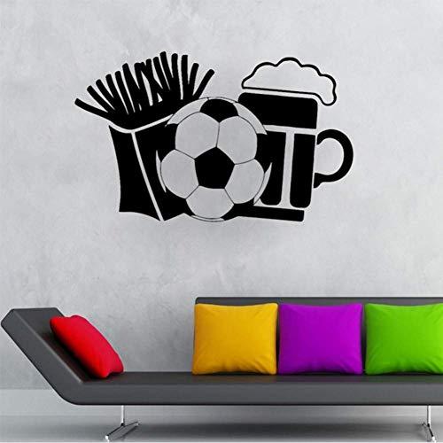 Patatine Fritte Adesivi Murali Birra E Calcio Per Bar Carta Da Parati Art Sticker Decalcomanie In Vinile Soggiorno Hobby Murales 70 * 42 Cm