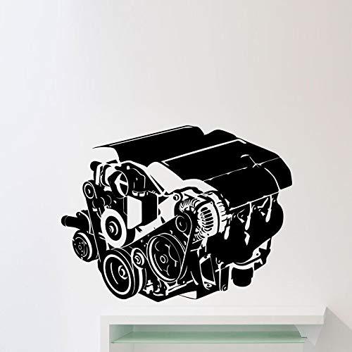 Wandaufkleber Steuern Dekor Wohnzimmer Auto Werkstatt Auto Reparatur Service Garage Vinyl Wandtattoos Rosa 59x77 cm ()