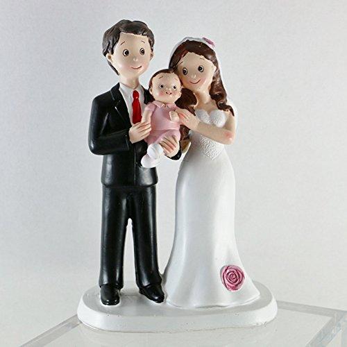 Il Villaggio degli Sposi Cake Topper - Sposi con BIMBA -