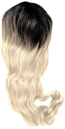 amback lang Dye dunklen Wurzeln Ombre Cosplay Halloween Perücke für Frauen gelockt Welle Haar Perücken Gap/Hellblond RF2