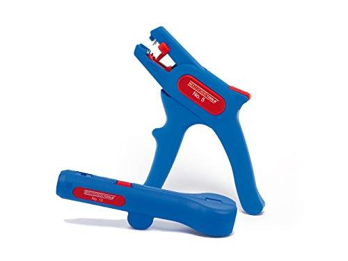 WEICON 52881004 Elektro-Installationsset No. 4 mit Abisolierzange und Rundkabel-Stripper, Blau/rot