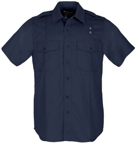5.11 Tactical Damen Taclite PDU Klasse B Kurzarm Hemd Polycotton Stoff Style 61168, Damen, Midnight Navy (Marineblau), Medium-Tall - Tall Womens Clothing