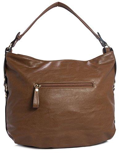Big Handbag Shop - Borse a spalla donna (arancione)