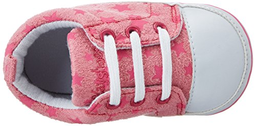 Playshoes Unisex Baby Canvas Turnschuhe Sterne Krabbelschuhe Pink (Rose/Pink)