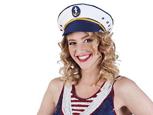 Alsino Fun Karnevalshut Doktor Matrosen Polizei Hut Herren Faschingshut Damen Partyhut, wählen:Schiffs Kapitän 81025