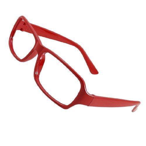 Rosallini Lady Single Brückenrechteckige kein Objektiv Rot Kunststoff Rim Glas-Rahmen