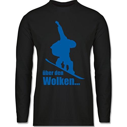 Wintersport - Snowboard - Über den Wolken - Longsleeve / langärmeliges T-Shirt für Herren Schwarz