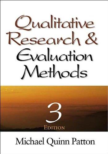 Qualitative Research & Evaluation Methods (text only) 3rd (Third) edition by M. Q. Patton