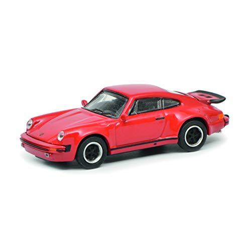 Schuco 452633000 452633000-Porsche 911 (930), 1:87, Modellauto, Modellfahrzeug, rot -